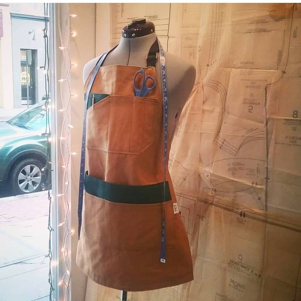 Waxed Canvas Apron - Sally Forth Supply Co.
