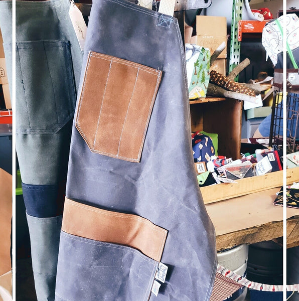 Hand Waxed Canvas Apron - Sally Forth Supply Co.