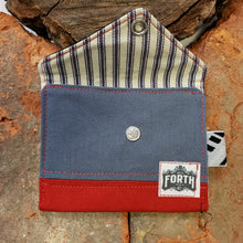 Load image into Gallery viewer, The Original Chapstick Wallet! The Avail Color block Black Grey & Red - Sally Forth Supply Co.