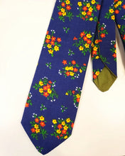 Load image into Gallery viewer, Blue Vintage Floral Necktie - Sally Forth Supply Co.