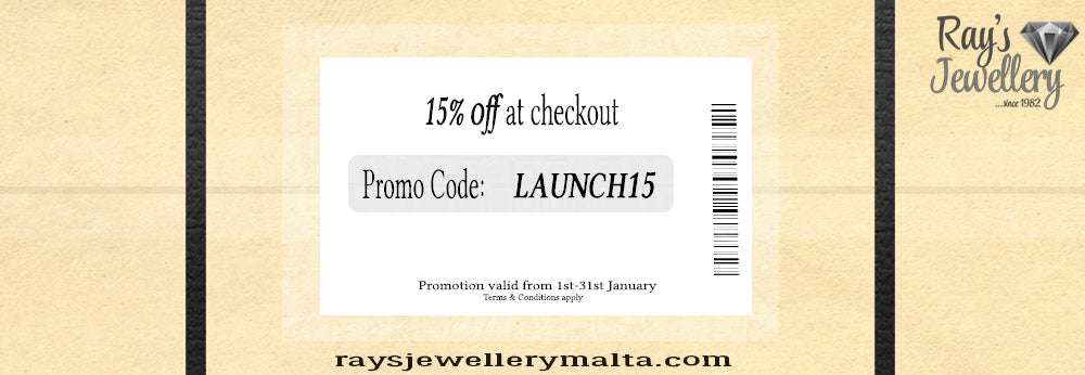 Ray's Jewellery Website Launch Promotion