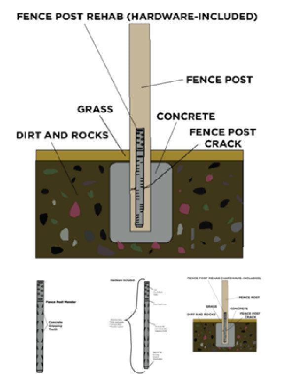 A post mender is a great alternative to replacing a wood fence post
