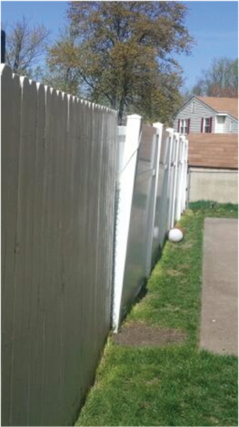 How to repair leaning vinyl fence post
