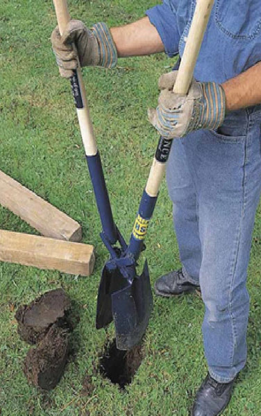Post hole digger for setting or replacing a post