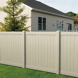 Fence Daddy Tan Vinyl Fence image