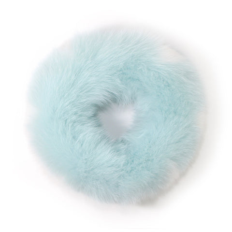 Mint Fox Fur Neck Warmer