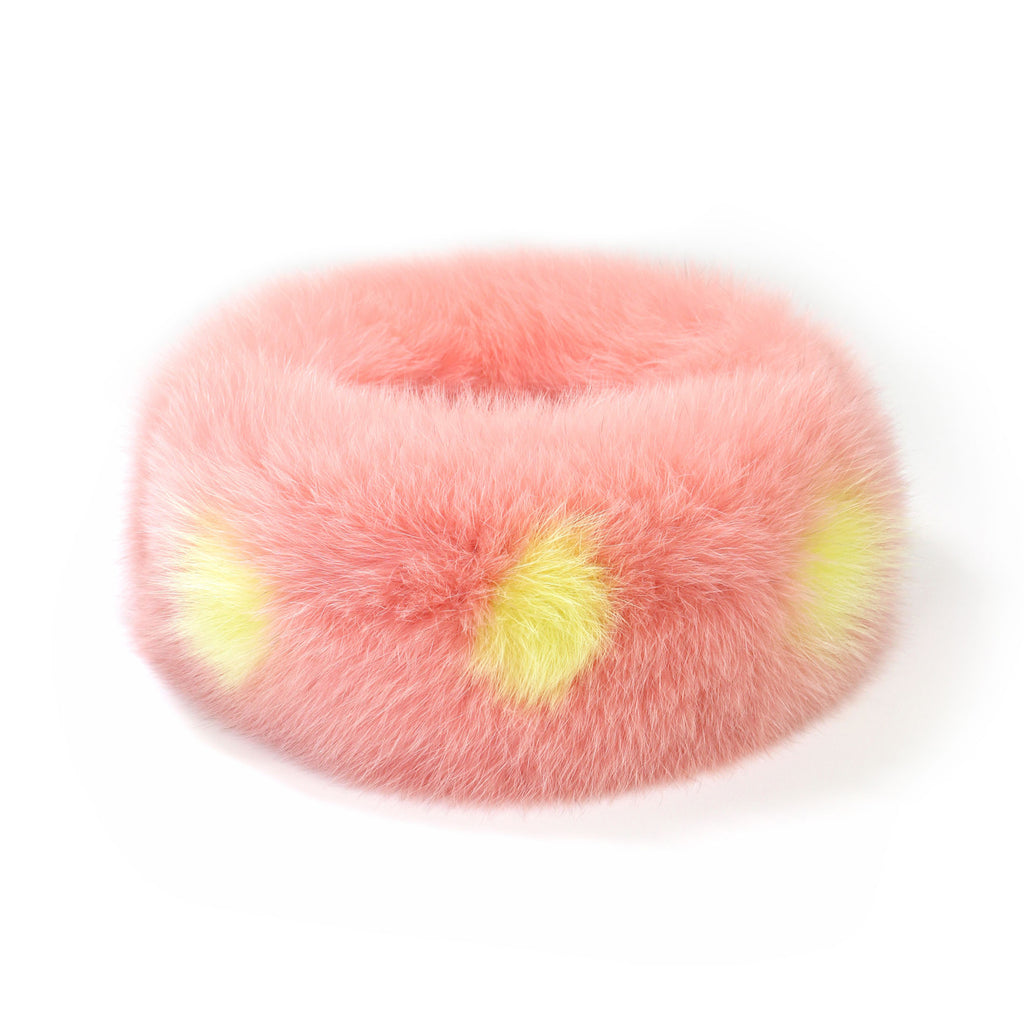 Peach Blossom Fox Fur Neck Warmer