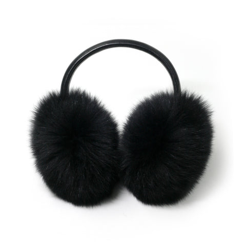 Lavender Fox Fur Earmuffs