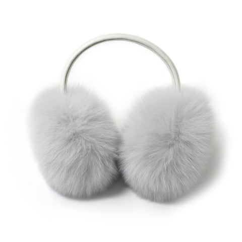 White Fox Fur Earmuffs