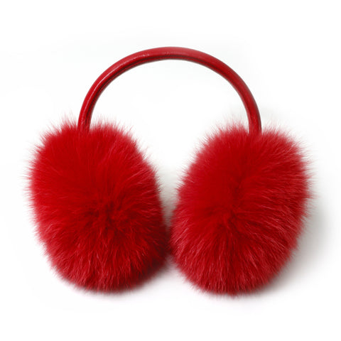 Grey Fox Fur Earmuffs