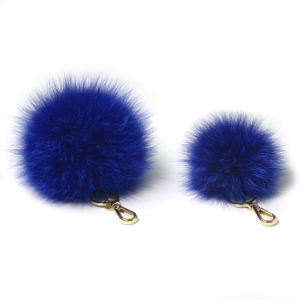 Lavender Fox fur Mini Pompom