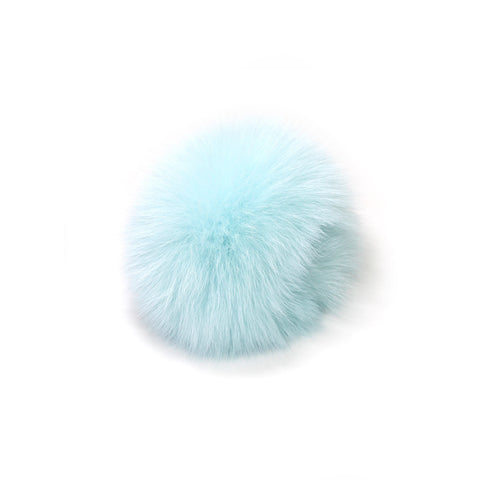 Magenta Multi-color Fox Tail Keyholder