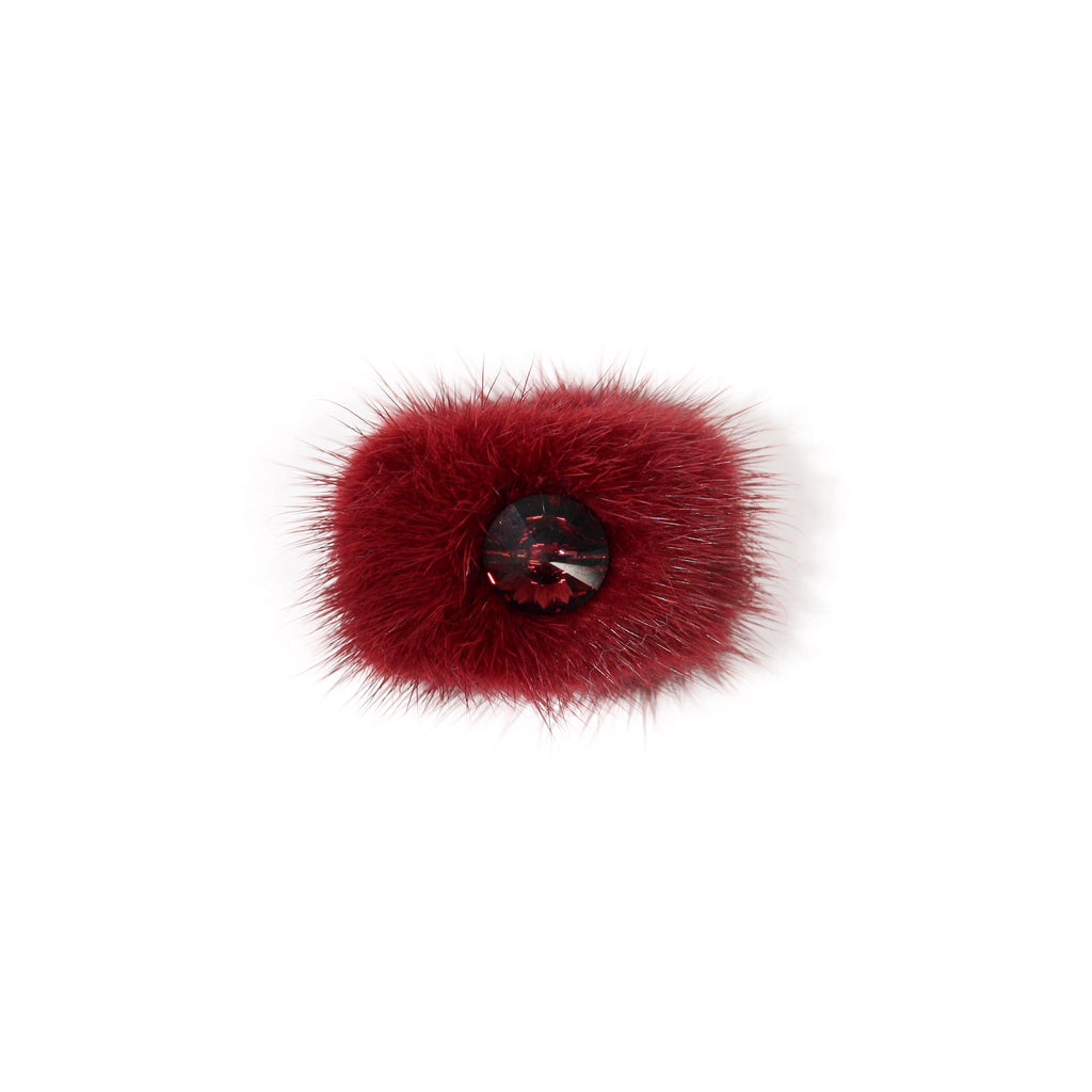 Bordeaux Mink cocktail ring