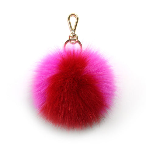 fox fur baseball pompom