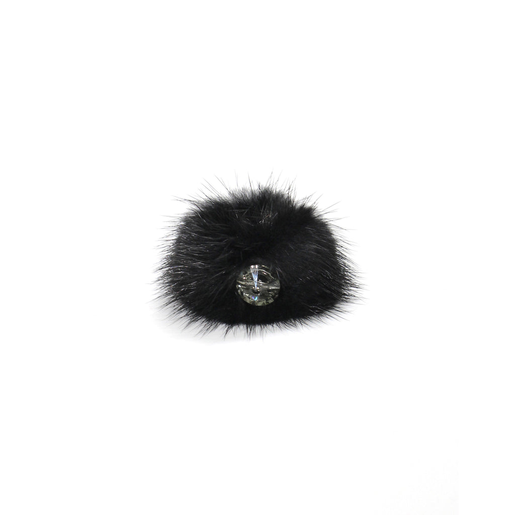 Black Mink cocktail ring