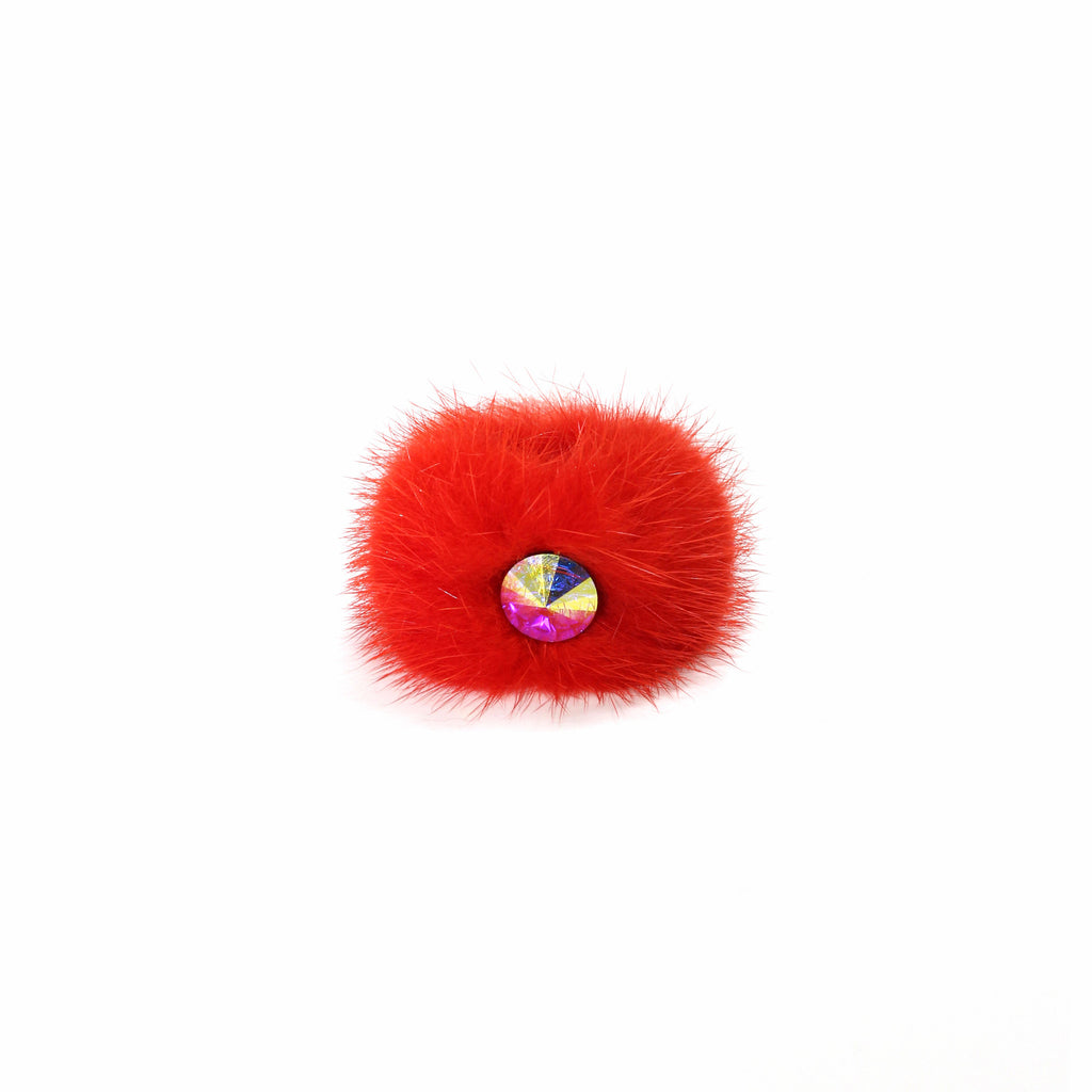 Orange Mink cocktail ring
