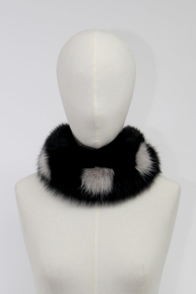Black Fox Fur Neck Warmer