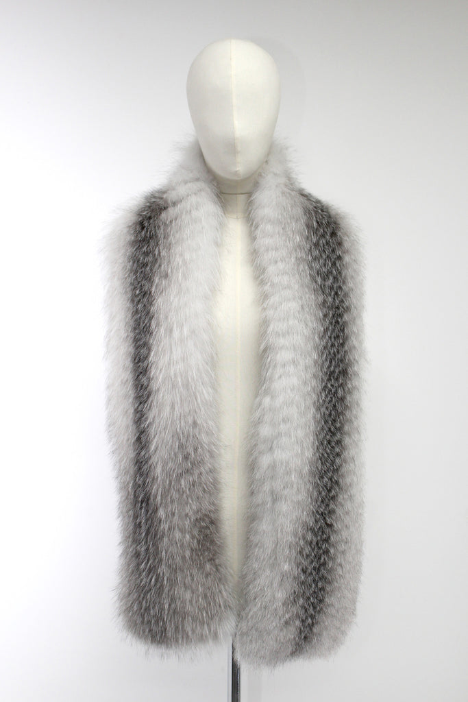 White Fox Long Scarf