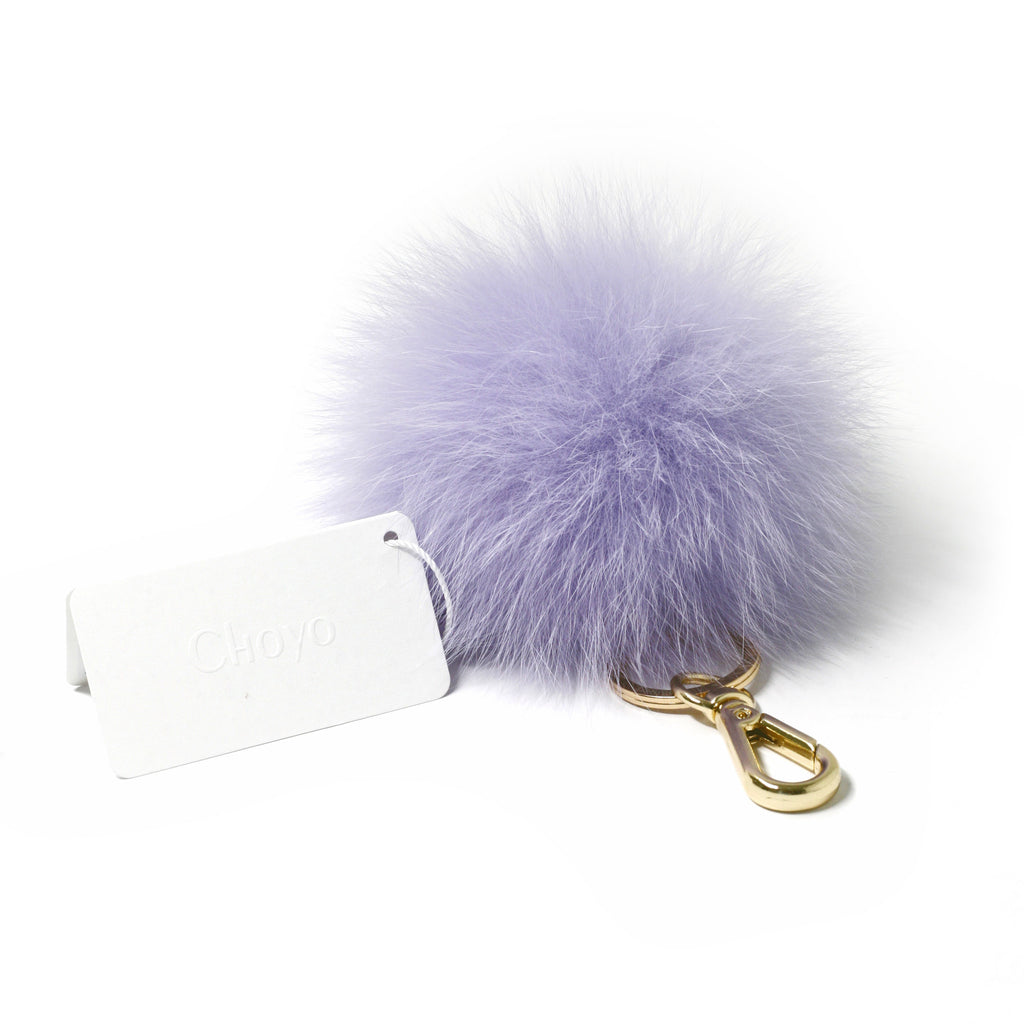 Blue Fox fur Mini Pompom