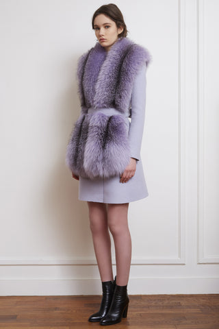 fox fur long bolero