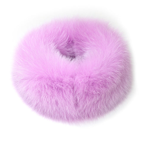 Burgundy Fox Fur Neck Warmer