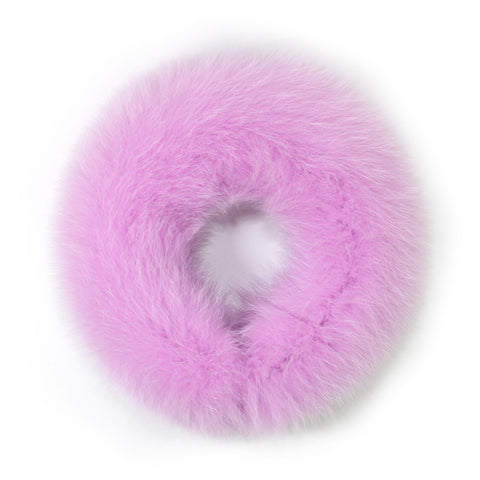 Pale Lavender Fox Fur Neck Warmer