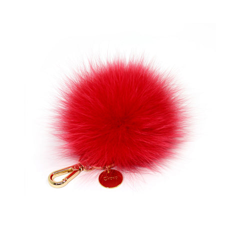 Red Fox fur Mini Pompom