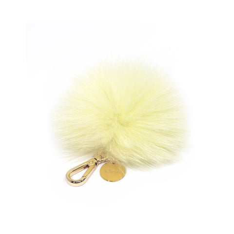 Light Yellow Fox fur Mini Pompom