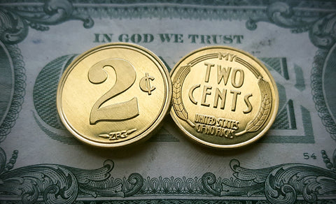 2 cents coins, two cents coins, 2¢ Coins