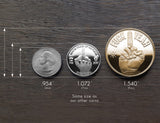 Gold Desicion Maker Coin Size Compare