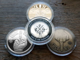All 3 Decision Maker Middle Finger Coins in Coin Capsule