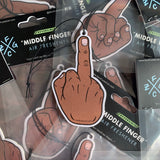Dark Skin Middle Finger air freshener