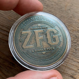 Bronze ZFG IDGAF coin in Capsule