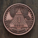 """Antiqued Copper"" One Fuck/Zero Fucks Decision Maker Coin"