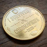 I Survived Coronavirus Commemorative Coin (Back)