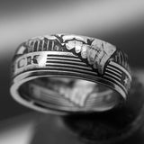Coin ring, coinrign, one fuck, give a fuck ring, custom coin ring, zero fucks given coin, zero fucks coin, jewelry