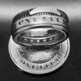 Coin ring, coinrign, one fuck, give a fuck ring, custom coin ring, zero fucks given coin, zero fucks coin, jewelry, give a fuck coin