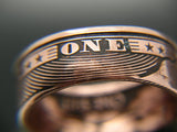 Coin ring, coinrign, one shit, give a shit ring, custom coin ring, zero fucks given coin, give 2 shits, jewelry, give a shit coin