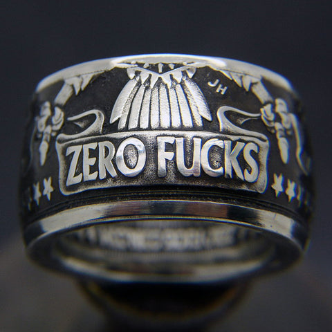 zero fucks coin ring