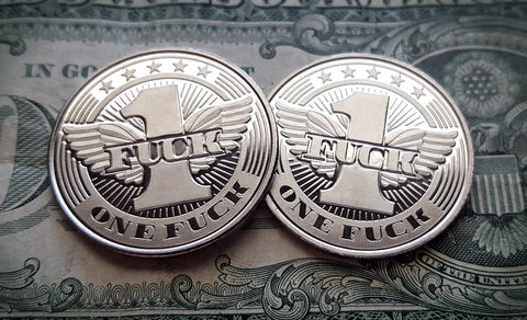 """Flying Fuck"" Single Coin"