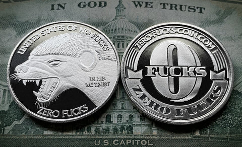 Honey Badger Coin, Honey Badger Zero Fucks Coin, ZFG Coin, United States of No Fucks, 0 fucks coin, HB coin, Badger Coin, Zerofucks Coin, no fuck coin