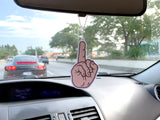 fuck you air freshener - middle finger - in car