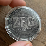 Silver ZFG IDGAF coin in Capsule - I Don't Give A Fuck Reminder Coin