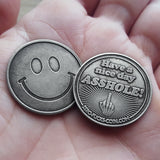 asshole zero fucks coins, have a nice day coin
