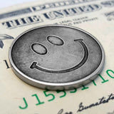 smiley face coin, smile coin, happy coin