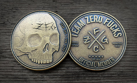 Team ZFG Zero Fucks Coin, Skull Coin, ZFCG, Team Zero Fucks