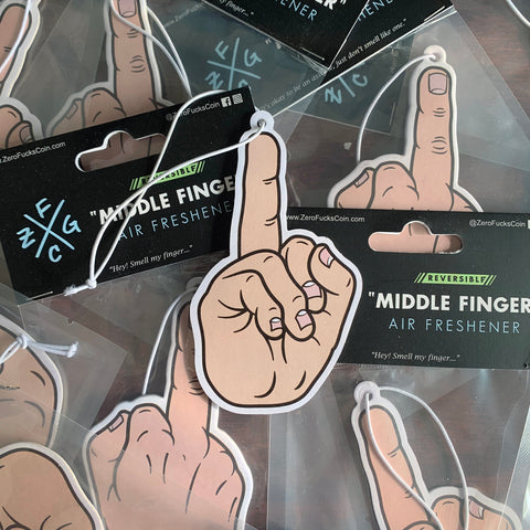 Light Skin Middle Finger Air Freshener