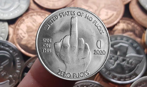 Blemished Zero Fucks Coin