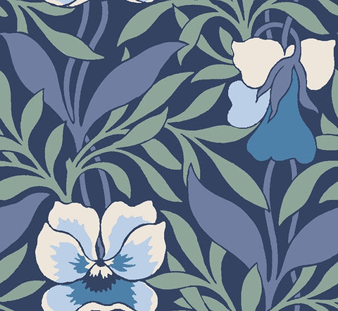 Iconic Liberty of London fabric, Harriet's pansy in blue, part of the new 'Hesketh house' fabric collection from Liberty of London. A high quality quilting weight cotton thats suitable for all your sewing projects from dressmaking to quilting. Sold by the metre and fat quarter by UK fabric seller frills and froth.