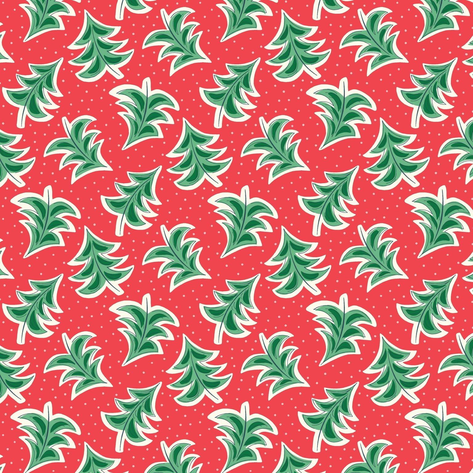 Spread Christmas cheer with this whimsical array of perfectly trimmed trees. you can almost hear a festive tune playing in the background as the trees dance rhythmically across a dusting of snowflake confetti